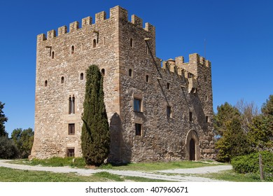 Castle of La Rapita in Vallfogona de Balaguer, Lleida, Catalonia, Spain.