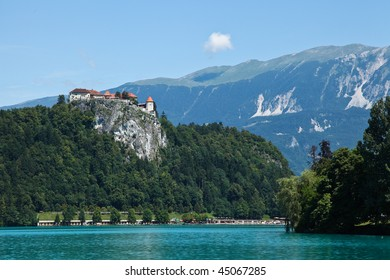 Castle at Lake Bled, Slovenia