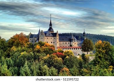 Castle Lauenstein in autumn