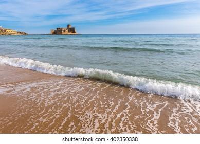 Castle of Le Castella at Capo Rizzuto, Calabria (Italy)
