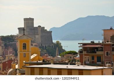The castle of Lerici in La Spezia gulf - Liguria, Italy