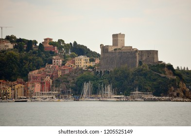 The Castle of Lerici seen from San Terenzo - Liguria - Italy