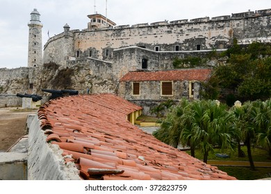 Castle and lighthouse of El Morro at Havana on Cuba