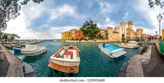 Castle of Limone Sul Garda, Lake Garda, Italy