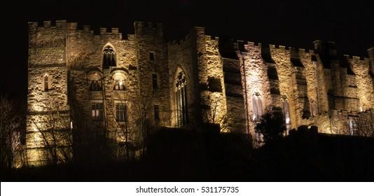 Castle Lit at night