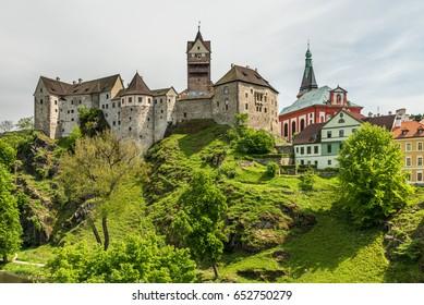 Castle Loket in Czech republic