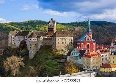 Castle Loket in Czech Republic - travel and architecture background
