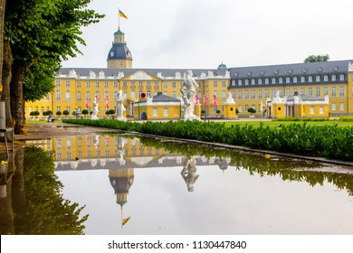 Castle of a lord named Karl Friedrich Schloss Karlsruhe in Karlsruhe, Germany in the state Baden-Württemberg. It was build around 300 years ago and it one of the most famous buildings within the city