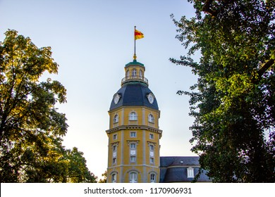 Castle of a lord named Karl Friedrich Schloss Karlsruhe in Karlsruhe, Germany in the state Baden-Württemberg. It was build around 300 years ago and is one of the most famous buildings within the city