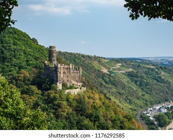 Castle Maus along the Rhine River in Germany
