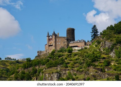 Castle Maus on the River Rhine