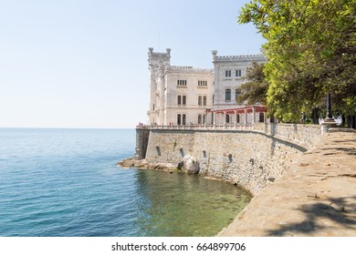 Castle Miramare in the bay close to Triest, Italy