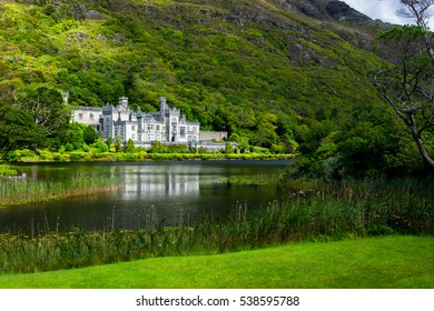 Castle and Monastery Kylemore Abbey in Ireland
