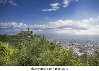 castle at Monte Cassino, Lazio, Italy