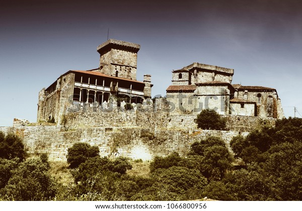 Castle of Monterrey located in Ourense,Spain