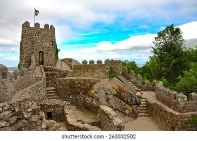 The Castle of the Moors is a hilltop medieval castle in Sintra, Portuga