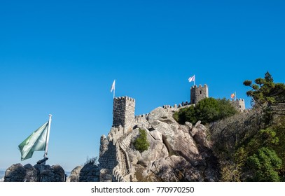 Castle of the Moors (Portuguese: Castelo dos Mouros) in the municipality of Sintra, Portugal