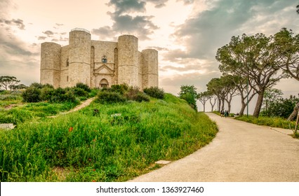 Castle of the Mountain (Castel del Monte) is a 13th-century castle situated on a hill in Andria in the Apulia region of southeast Italy. UNESCO World Heritage Site.
