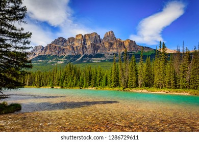 Castle Mountains in Banff National Park, Alberta, Canada