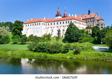 castle with museum, St. Procopius basilica and monastery, town Trebic (UNESCO, the oldest Middle ages settlement of jew community in Central Europe), Moravia, Czech republic, Europe