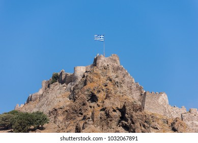 The castle of Myrina in Lemnos island