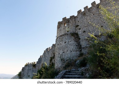The castle of Mystras, near the city of Sparta, Greece.