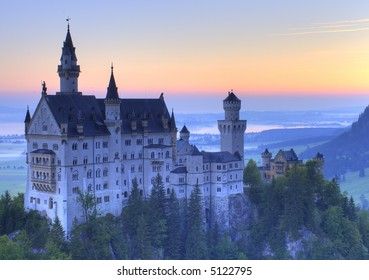 The Castle Neuschwanstein in Bavaria, Germany