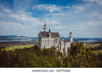 castle neuschwanstein germany bavaria alps travel.