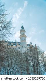 Castle Neuschwanstein in the snow