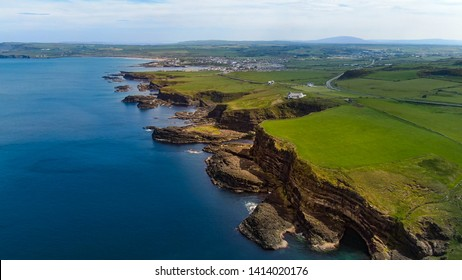 Castle in North Ireland - aerial view - travel photography
