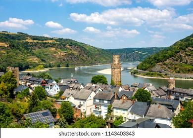Castle Schönburg, Oberwesel, middel rhine valley, Germany