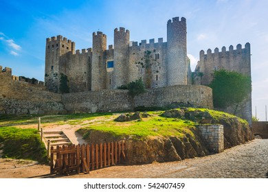 Castle of Obidos in the medieval town of Obidos. Portugal