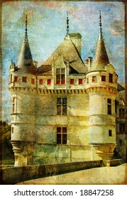 castle from old fairy tale book