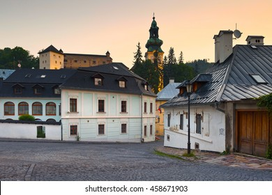 Castle in the old town of Banska Stiavnica, Slovakia.