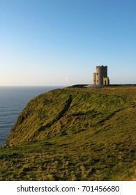 castle on a cliff in Ireland