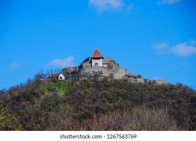 Castle on the hill. Visegrád is a small castle town in Pest County, Hungary. It is north of Budapest on the right bank of the Danube in the Danube Bend.