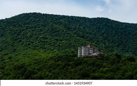 Castle on hill top close to Kvareli town in Kakheti area, Georgia