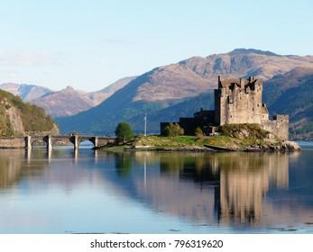 Castle on the loch, Scotland