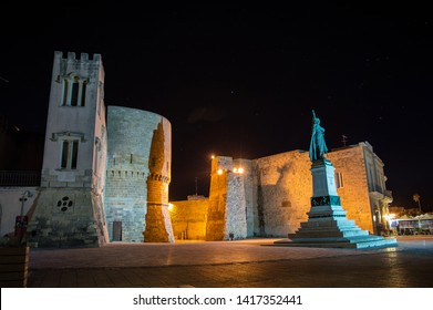 castle of otranto by night, salento, the eastern part of apulia, italy