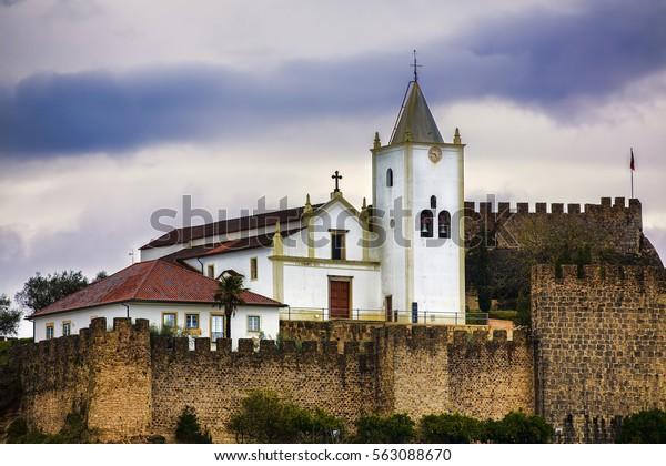 Castle Penela St Michaels Church Portugal Stock Photo (Edit