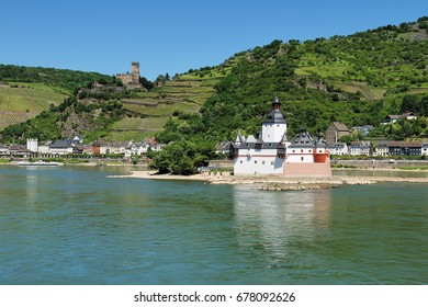 Castle Pfalzgrafenstein in the middle of the Rhine near Kaub