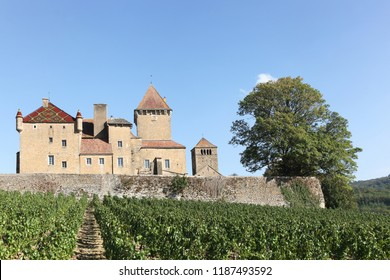 Castle of Pierreclos in Burgundy, France