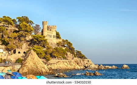 Castle Playa in Lloret de Mar, Costa Brava, Catalonia, Spain.