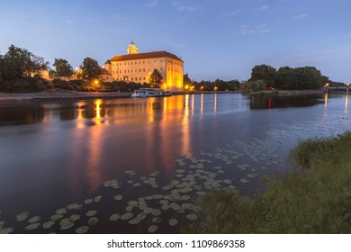 Castle Podebrady near river Labe in Central Bohemia, Czech republic