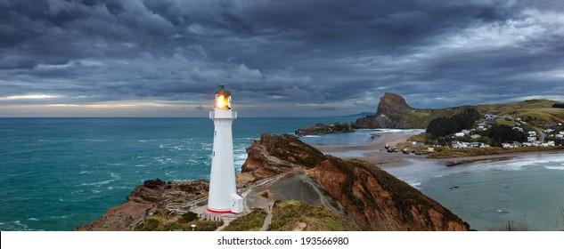 Castle Point Lighthouse, sunrise, Wairarapa New Zealand
