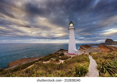Castle Point Lighthouse at sunrise, Wairarapa New Zealand
