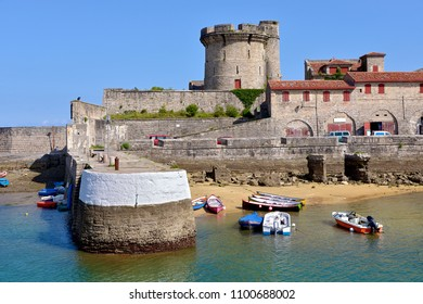 Castle and port of Socoa that is a district of Cibourre and of Urrugne in the Pyrénées-Atlantiques department in south-western France