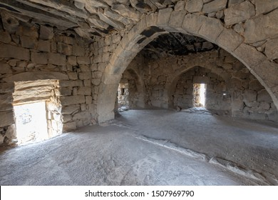 Castle Qazr Al-Azraq - one of the Jordan desert castles. Used by Lawrence of Arabia as a base during the Arab Revolt. Interior of the tower
