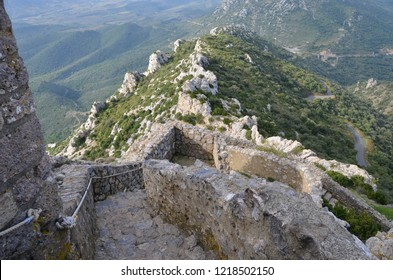 Castle of Queribus in the Aude area in France