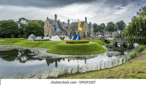 Castle Radboud panorama in Medemblik, Netherlands